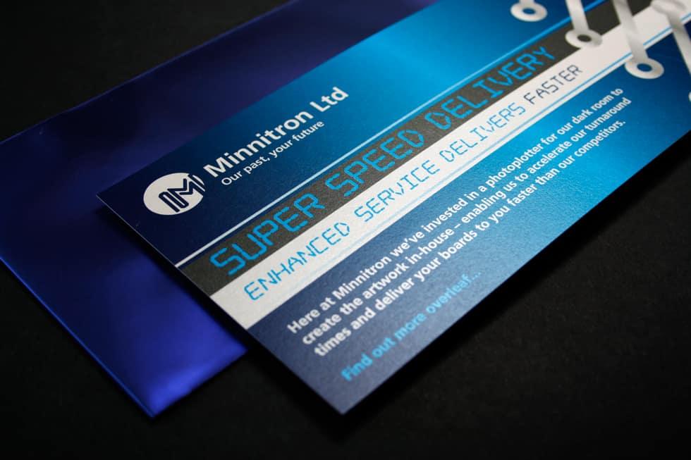 Minnitron PCB manufacturer flyer design | Paul Cartwright